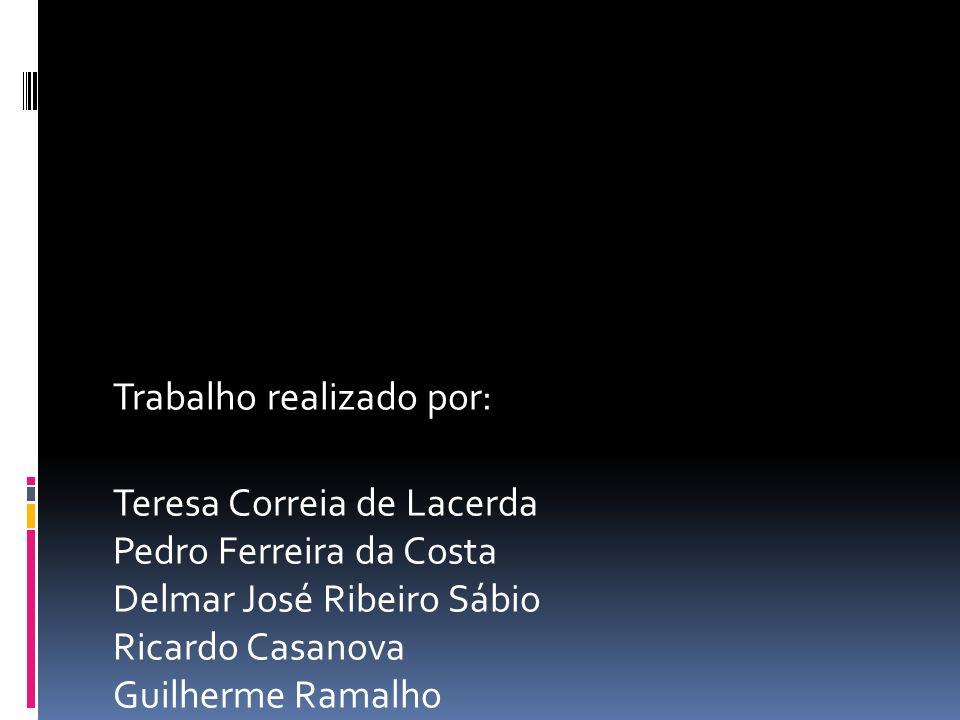 Trabalho realizado por: Teresa Correia de Lacerda Pedro Ferreira da Costa Delmar José Ribeiro Sábio Ricardo Casanova Guilherme Ramalho