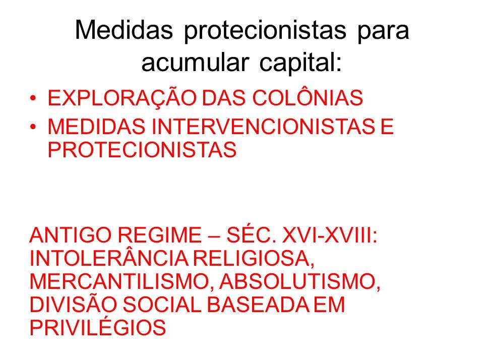 Medidas protecionistas para acumular capital: