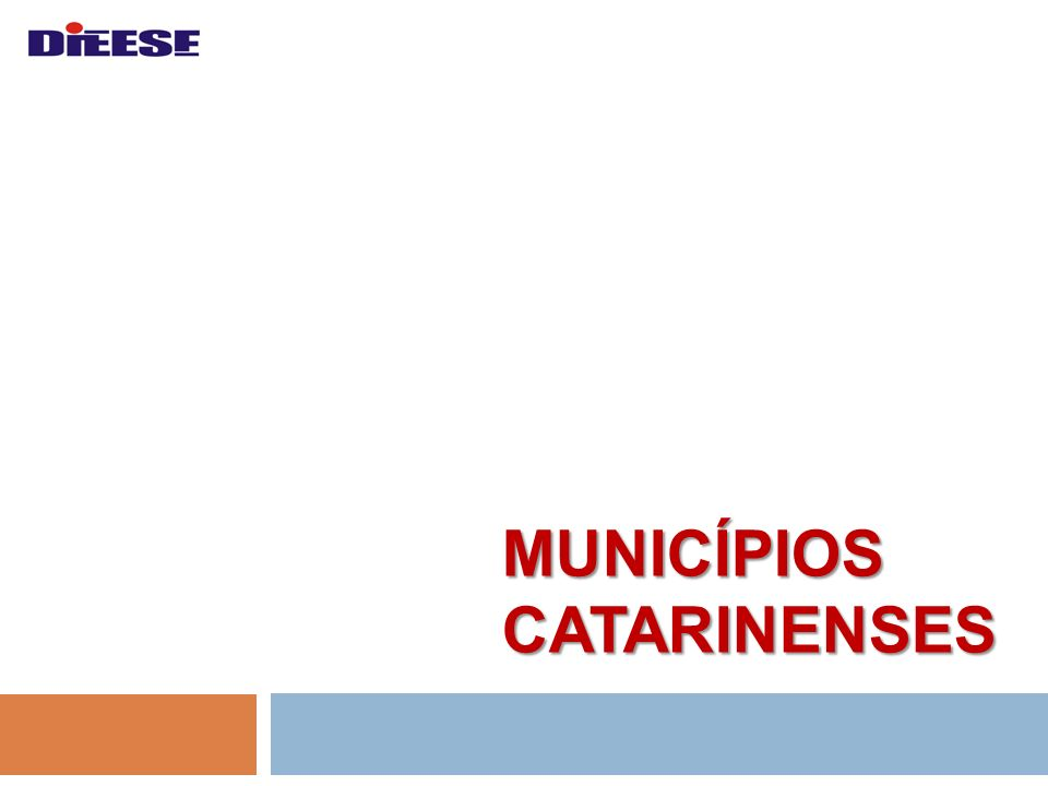 Municípios Catarinenses