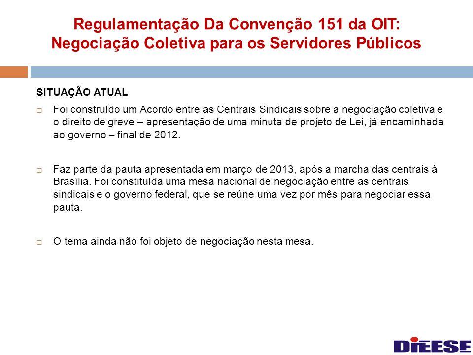 Regulamentação Da Convenção 151 da OIT: Negociação Coletiva para os Servidores Públicos