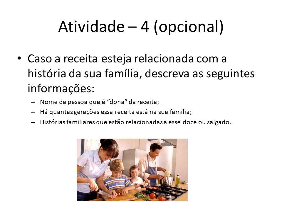 Atividade – 4 (opcional)