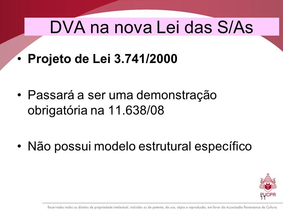 DVA na nova Lei das S/As Projeto de Lei 3.741/2000