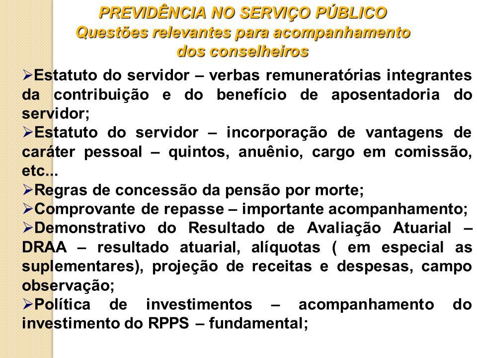 Regras de concessão da pensão por morte;
