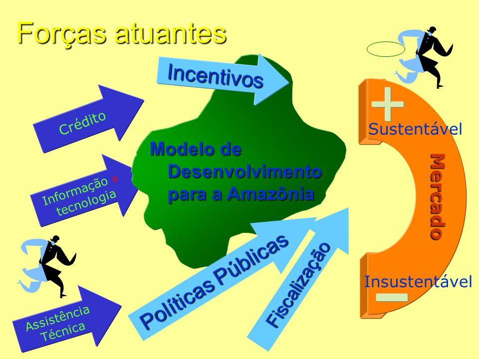 Forças atuantes Incentivos Políticas Públicas Mercado