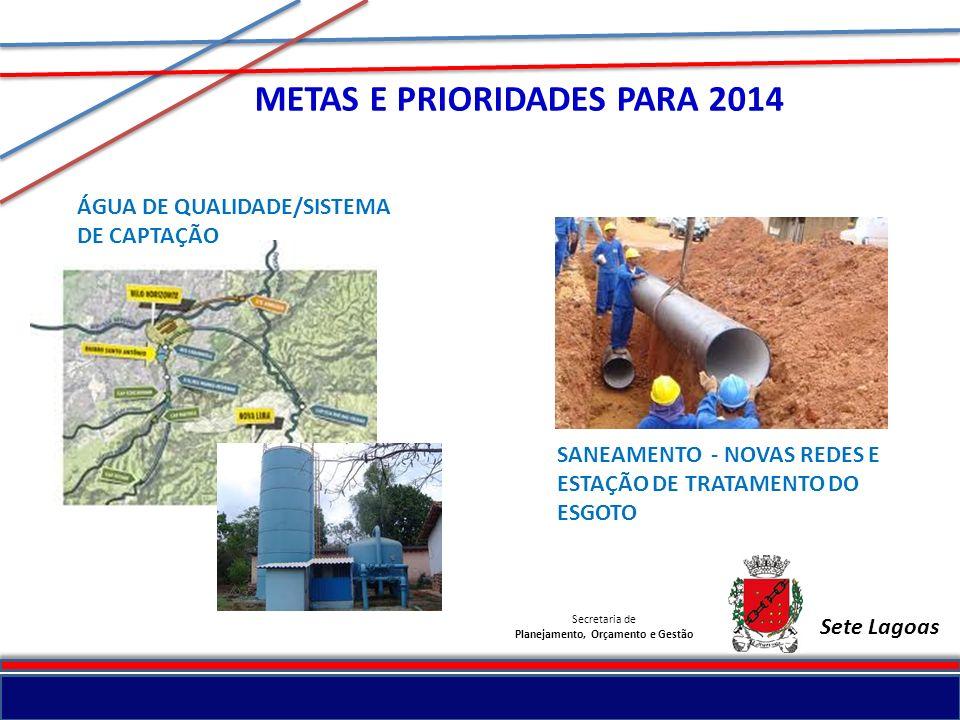 METAS E PRIORIDADES PARA 2014 Planejamento, Orçamento e Gestão