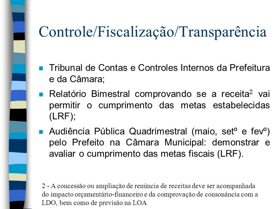 Controle/Fiscalização/Transparência