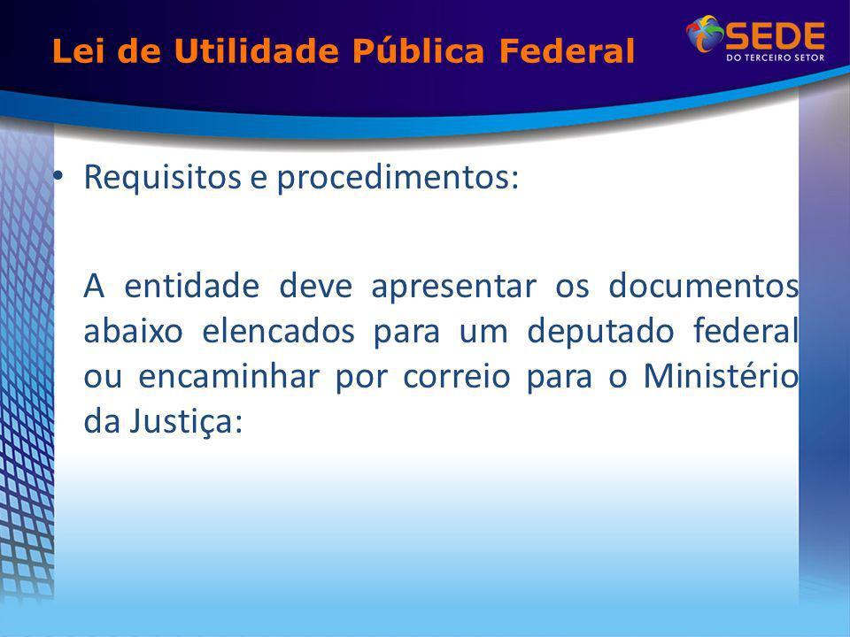 Lei de Utilidade Pública Federal