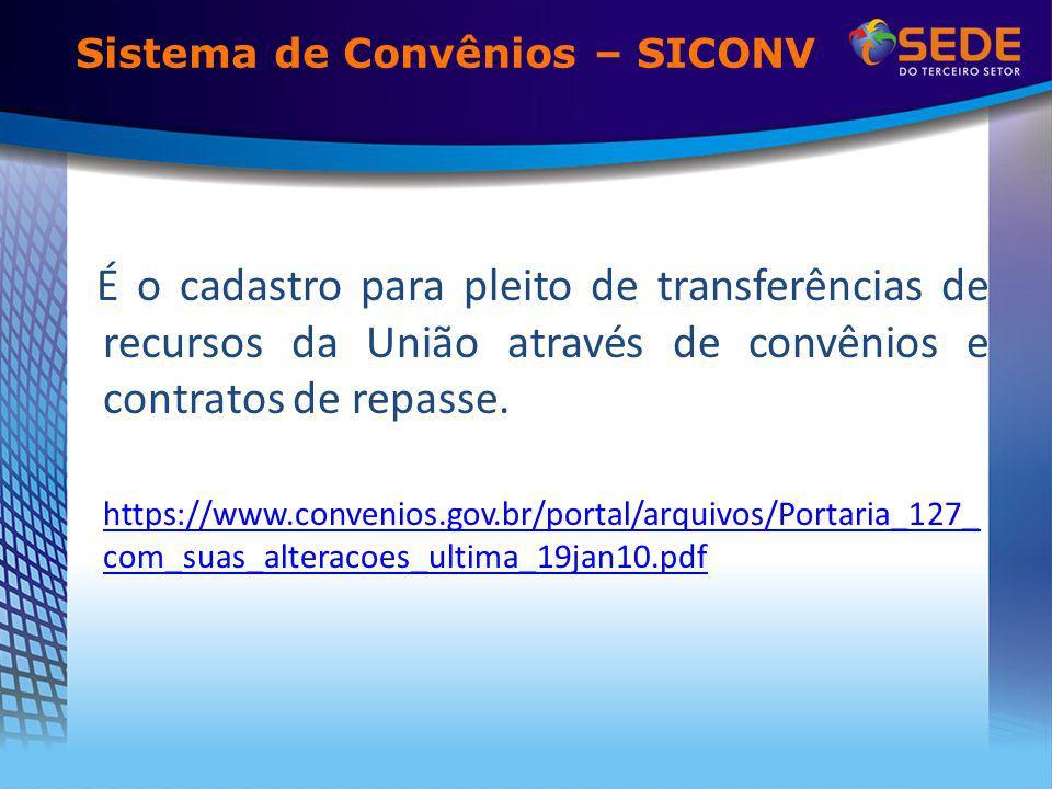 Sistema de Convênios – SICONV