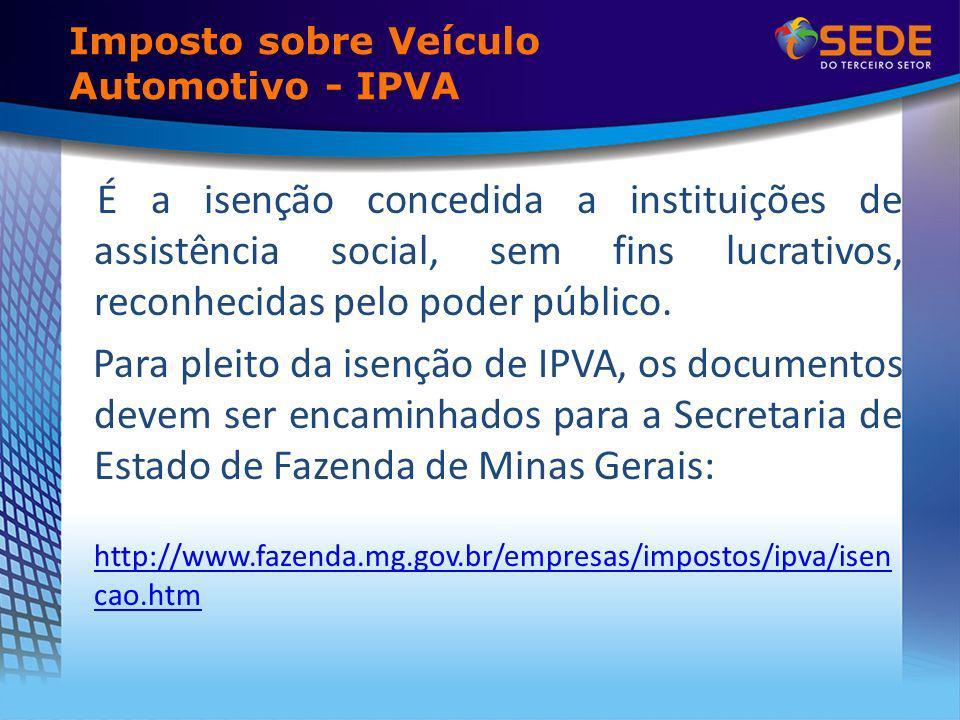 Imposto sobre Veículo Automotivo - IPVA