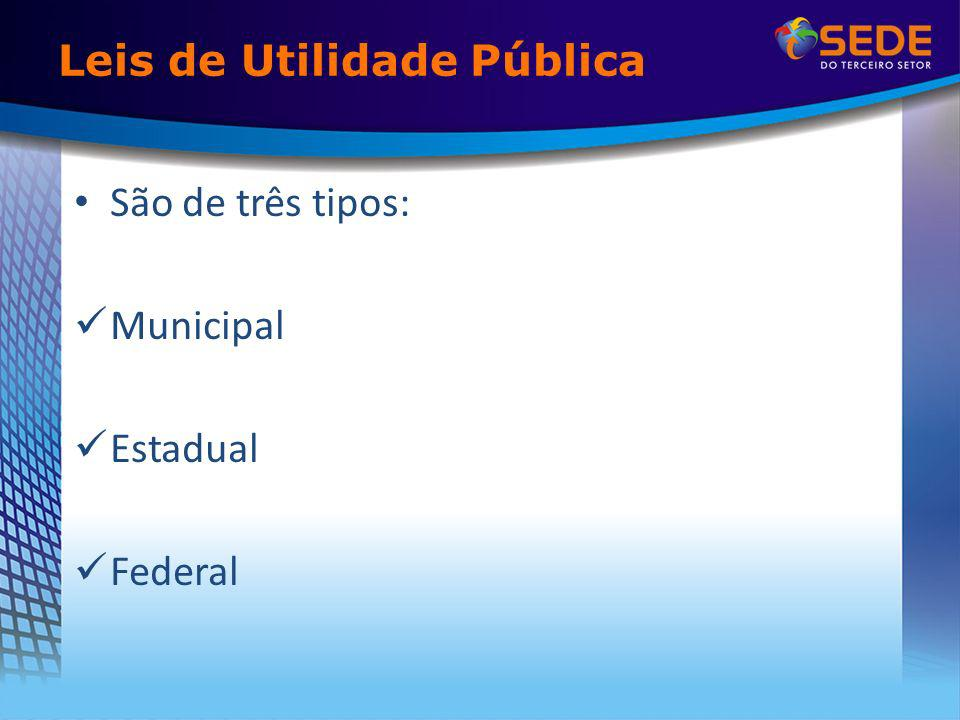 Leis de Utilidade Pública