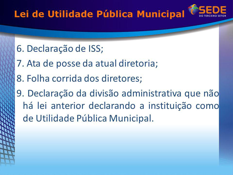 Lei de Utilidade Pública Municipal