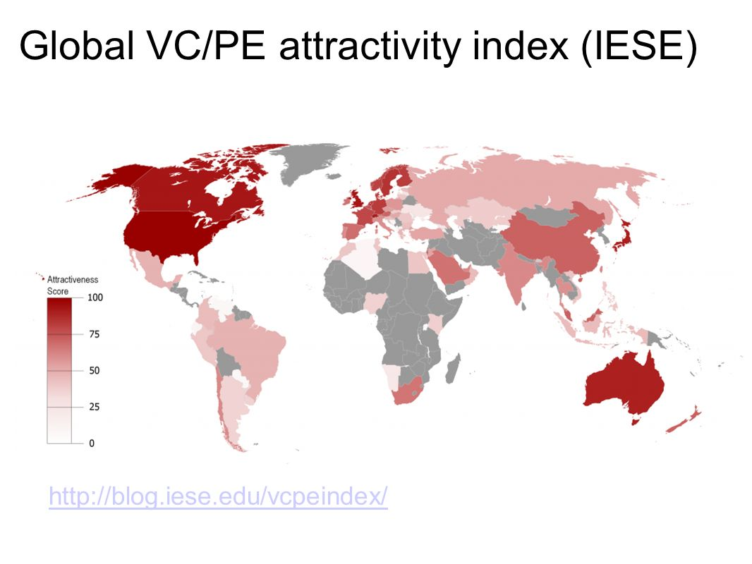 Global VC/PE attractivity index (IESE)