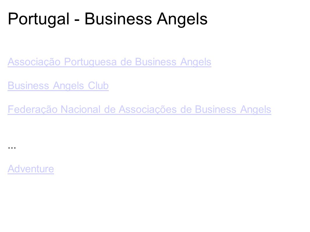 Portugal - Business Angels
