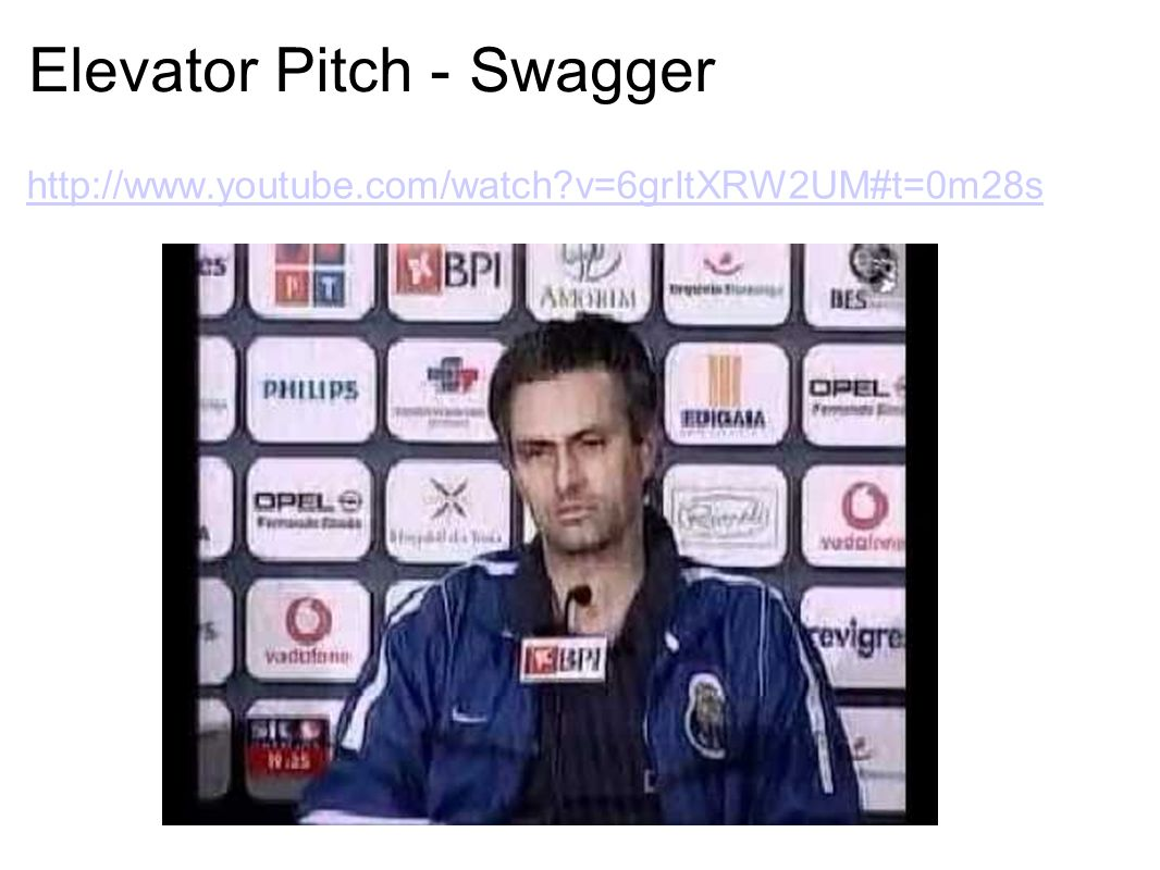Elevator Pitch - Swagger