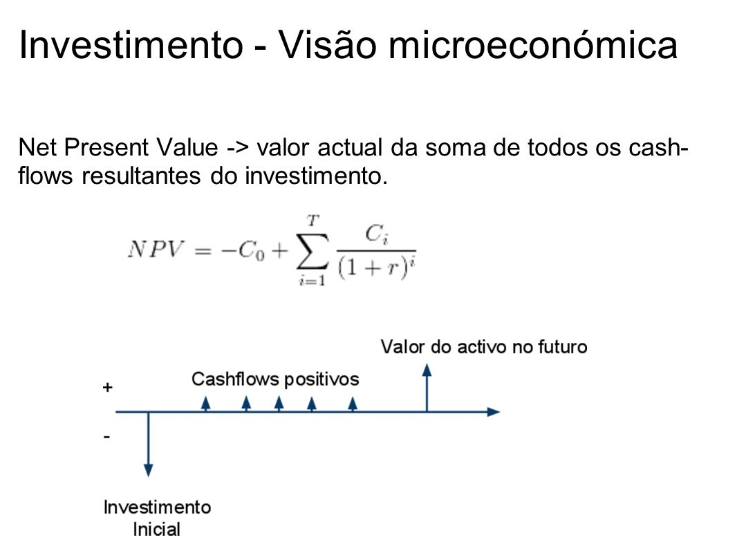Investimento - Visão microeconómica