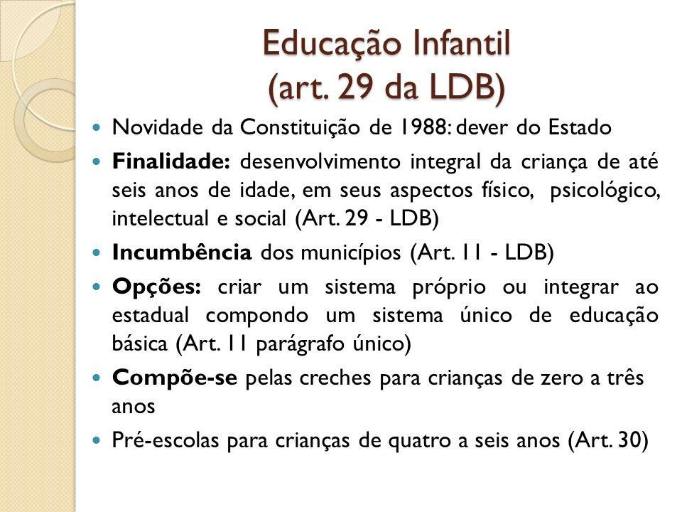 Educação Infantil (art. 29 da LDB)