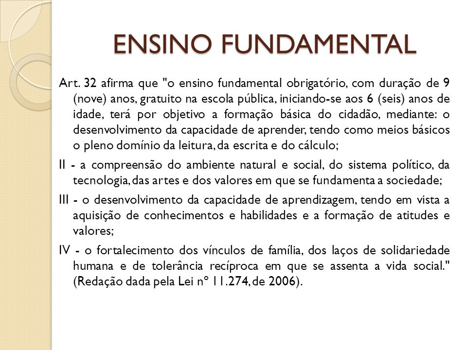 ENSINO FUNDAMENTAL