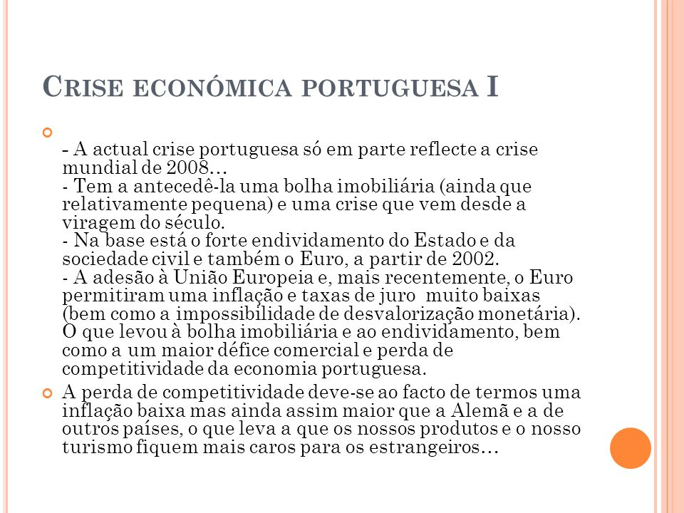 Crise económica portuguesa I