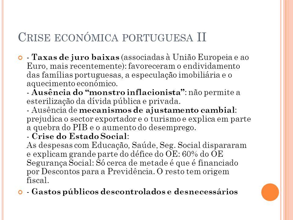 Crise económica portuguesa II