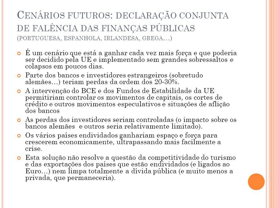 Cenários futuros: declaração conjunta de falência das finanças públicas (portuguesa, espanhola, irlandesa, grega…)