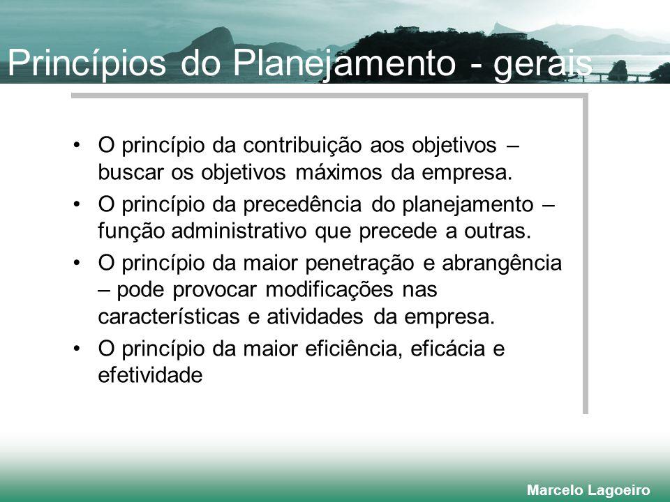 Princípios do Planejamento - gerais