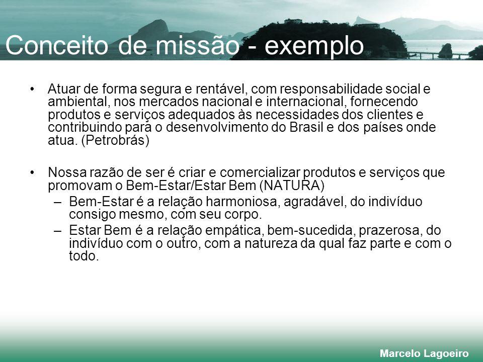 Conceito de missão - exemplo