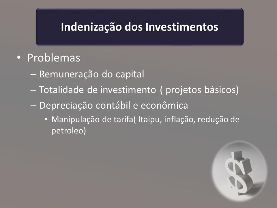 Indenização dos Investimentos