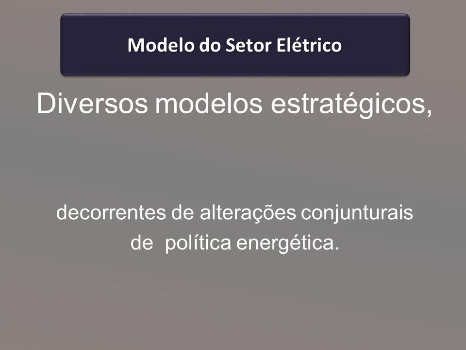 Diversos modelos estratégicos,