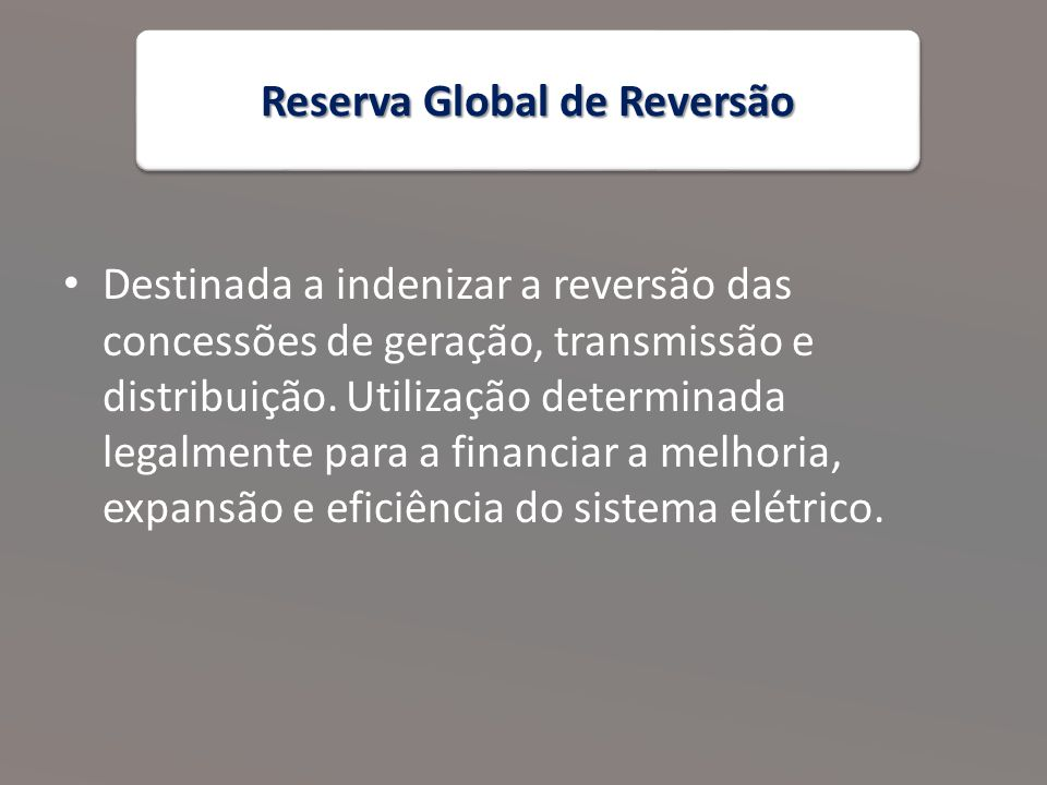 Reserva Global de Reversão