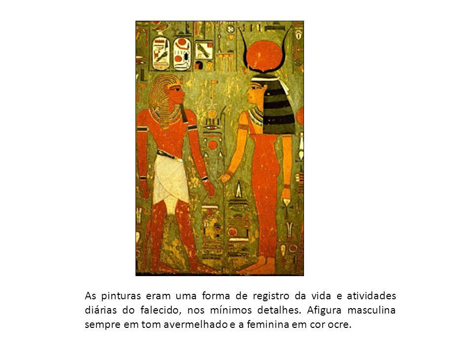 As pinturas eram uma forma de registro da vida e atividades diárias do falecido, nos mínimos detalhes.