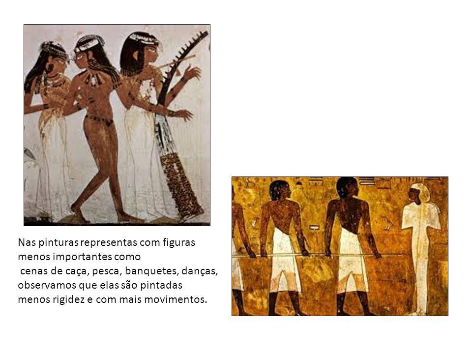 Nas pinturas representas com figuras