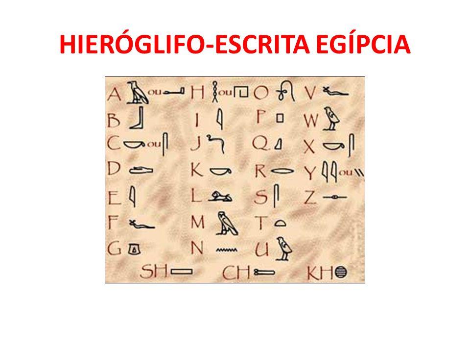 HIERÓGLIFO-ESCRITA EGÍPCIA