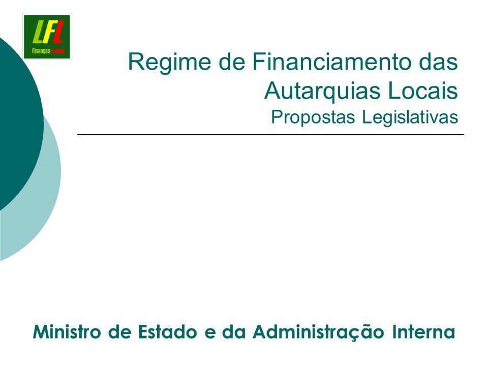 Regime de Financiamento das Autarquias Locais Propostas Legislativas