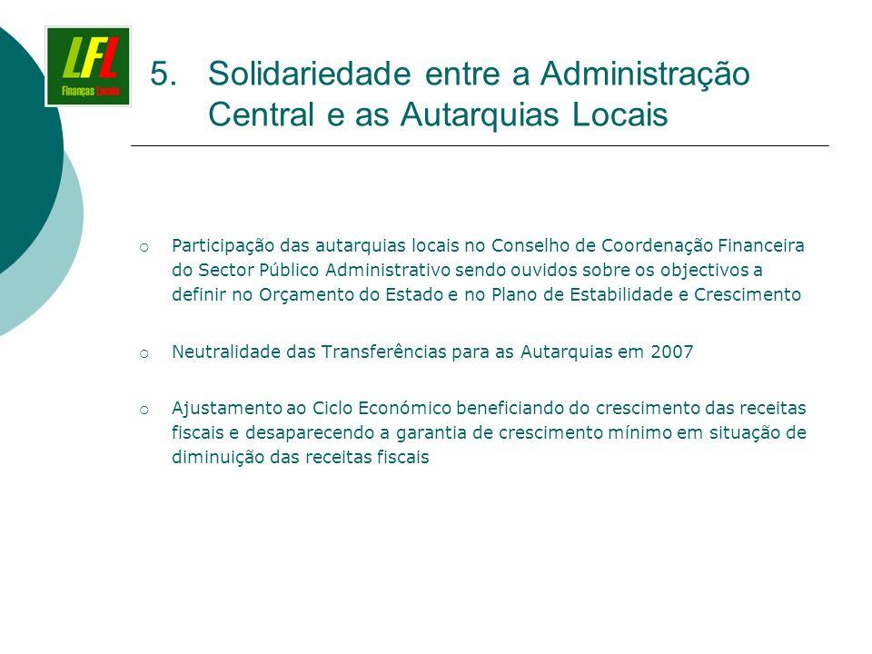 Solidariedade entre a Administração Central e as Autarquias Locais