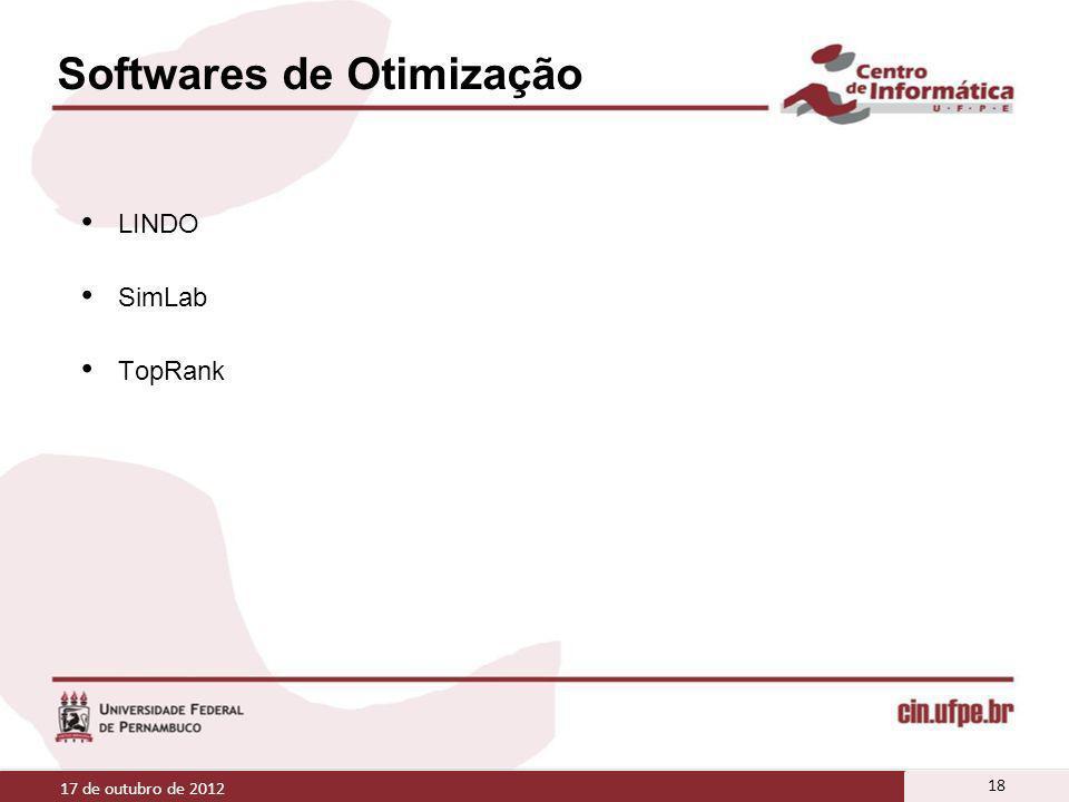 Softwares de Otimização