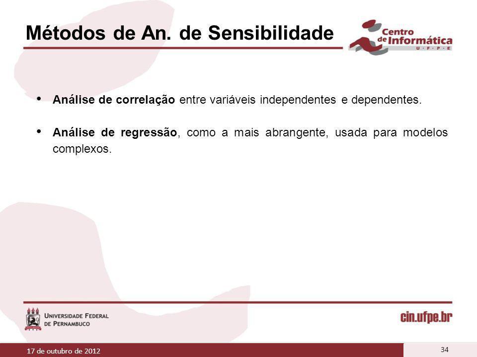Métodos de An. de Sensibilidade