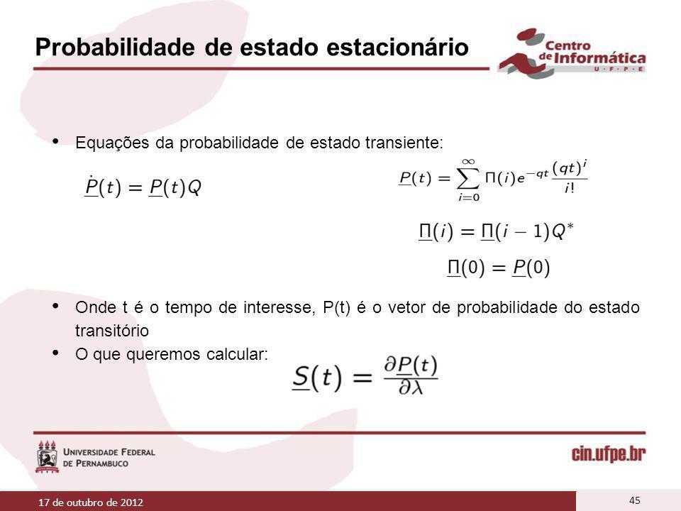 Probabilidade de estado estacionário