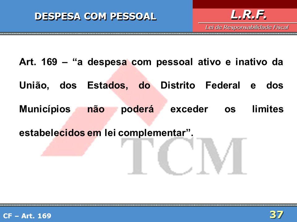 DESPESA COM PESSOAL