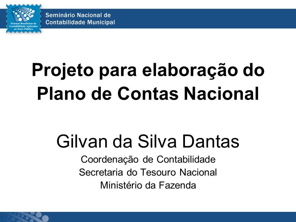 Projeto para elaboração do Plano de Contas Nacional