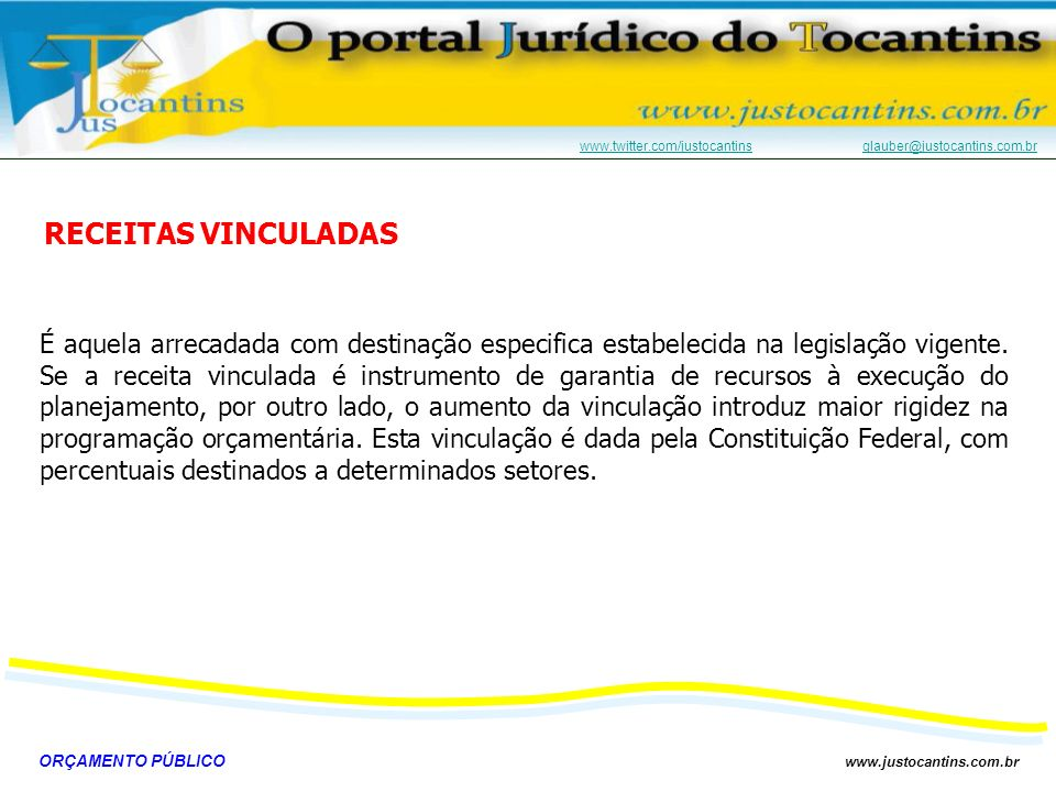 RECEITAS VINCULADAS