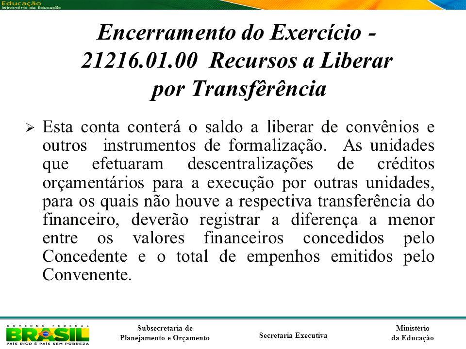 Encerramento do Exercício - 21216. 01