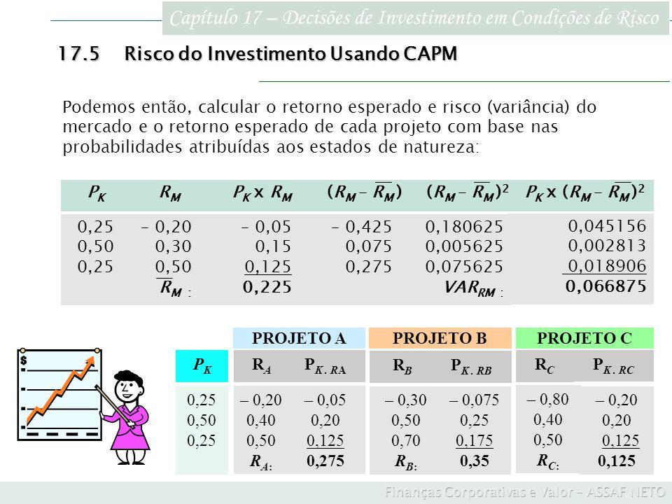 Capítulo 17 – Decisões de Investimento em Condições de Risco