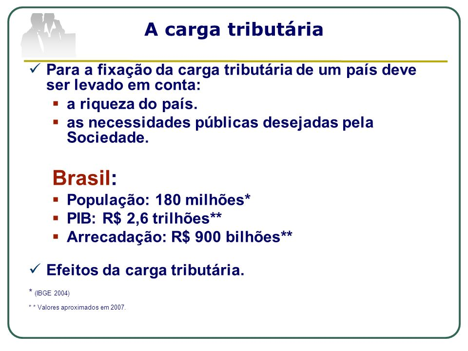 Brasil: A carga tributária