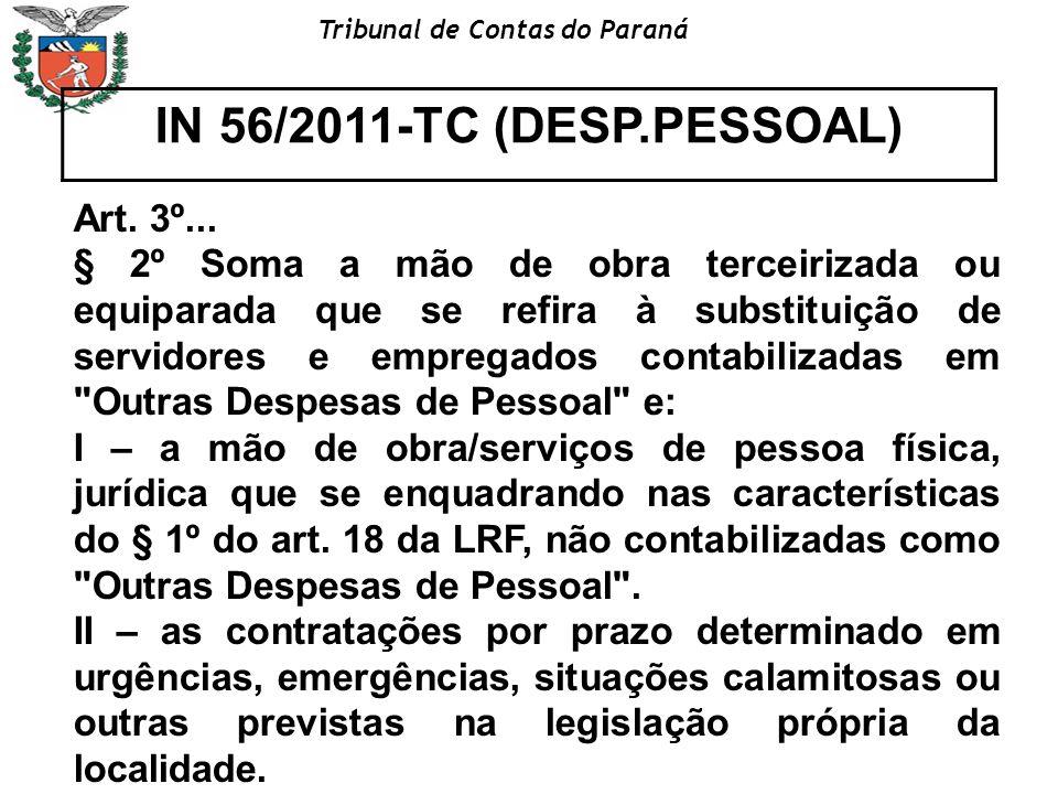 IN 56/2011-TC (DESP.PESSOAL) Art. 3º...