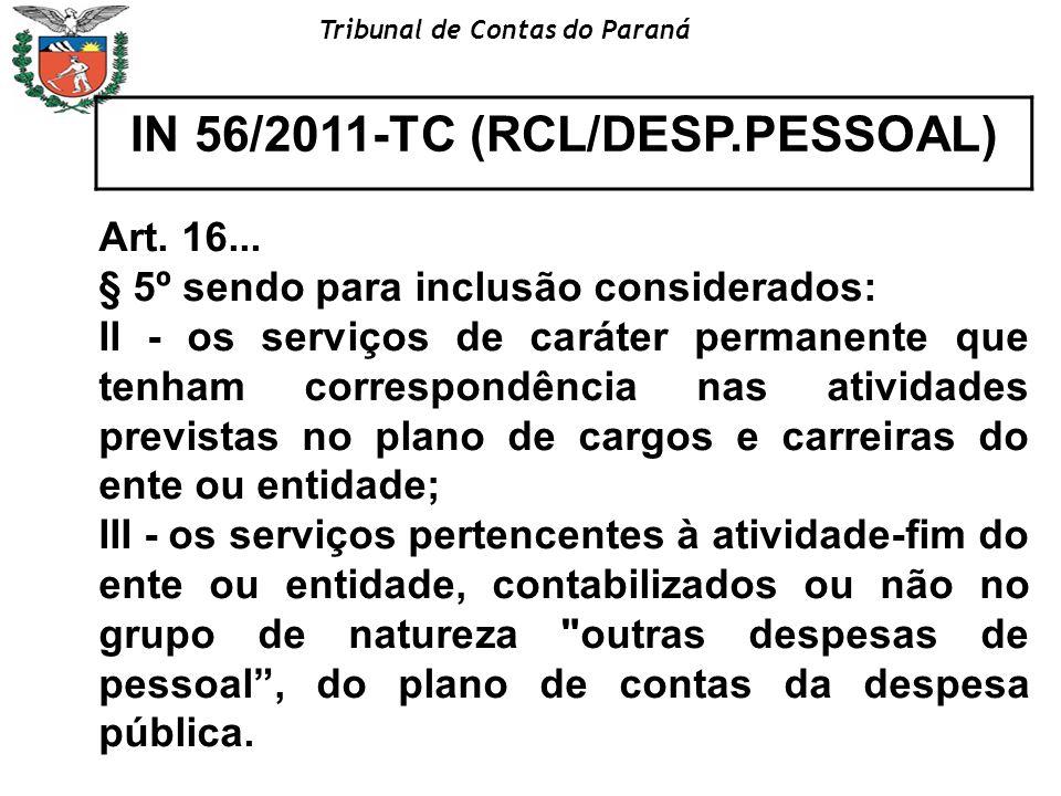 IN 56/2011-TC (RCL/DESP.PESSOAL)