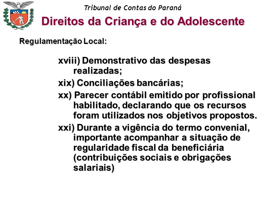 Regulamentação Local:
