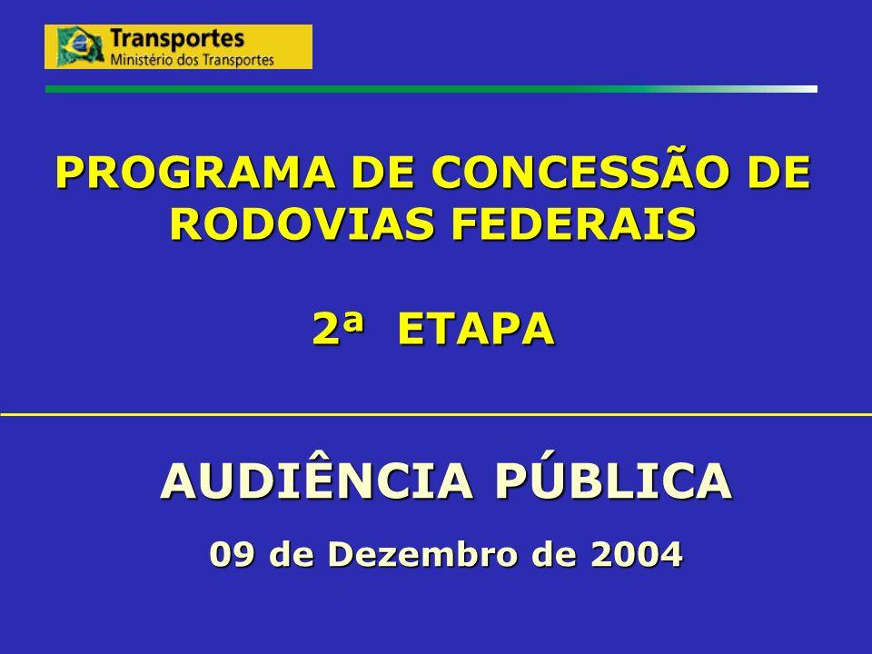 PROGRAMA DE CONCESSÃO DE RODOVIAS FEDERAIS 2ª ETAPA