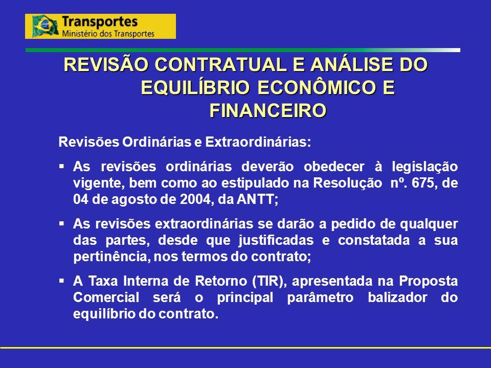 REVISÃO CONTRATUAL E ANÁLISE DO EQUILÍBRIO ECONÔMICO E FINANCEIRO