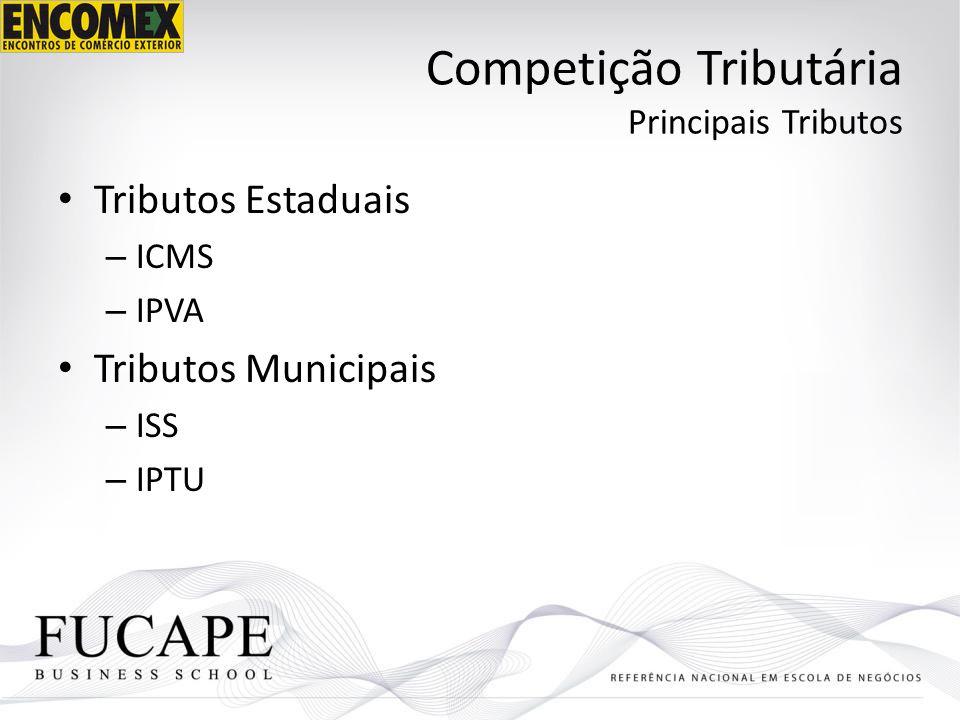 Competição Tributária Principais Tributos