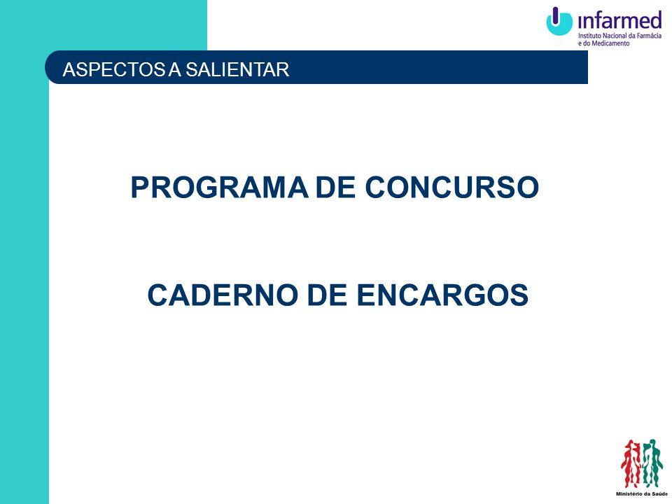 PROGRAMA DE CONCURSO CADERNO DE ENCARGOS
